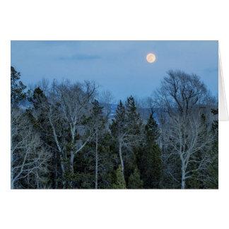 Full Moon Over Tree at Dusk Card