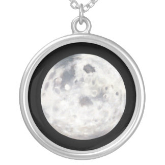Full Moon Painting Pendant