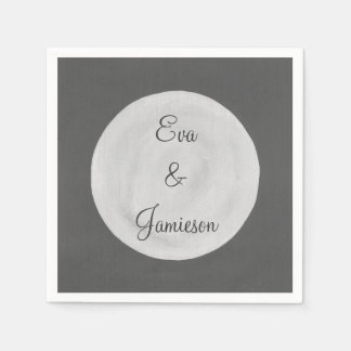 Full Moon Personalized Paper Napkins Disposable Napkin