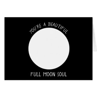 Full MOON Phase Greeting Card
