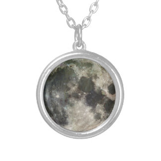Full Moon Photography Silver Plated Necklace