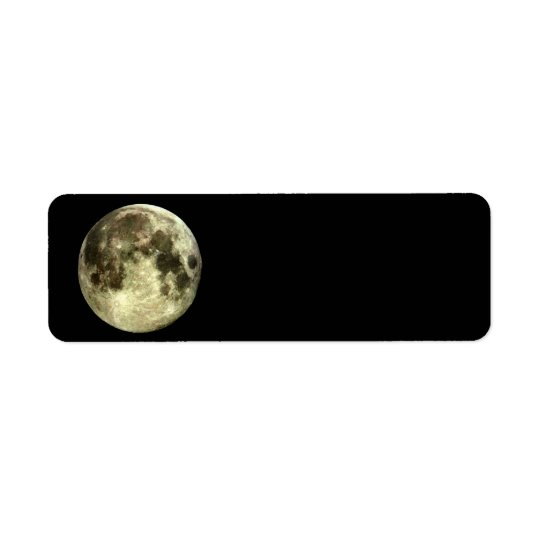 Full Moon Return Address Return Address Label