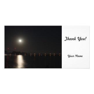 Full Moon Rise Customised Photo Card
