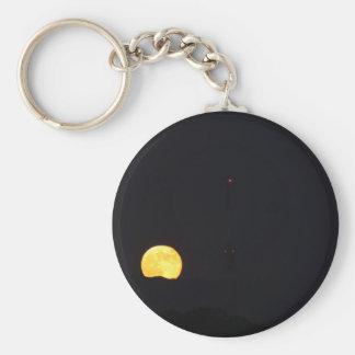 Full Moon Rise Key Ring