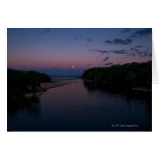 Full Moon rising over Wattamolla Beach in the Greeting Cards