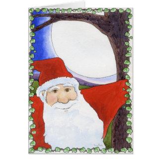 Full Moon Santa Cards