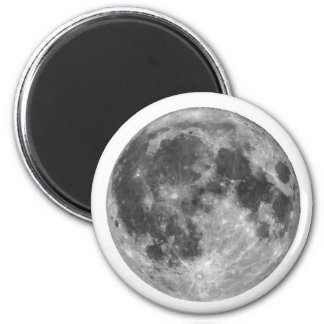 Full moon seen with telescope 6 cm round magnet