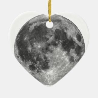 Full moon seen with telescope ceramic ornament