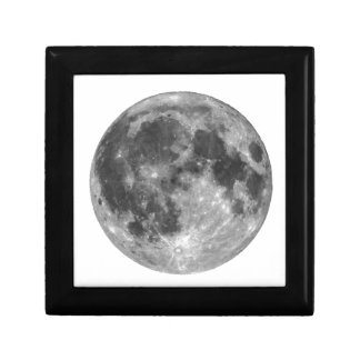 Full moon seen with telescope gift box
