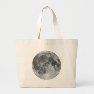 Full moon seen with telescope large tote bag