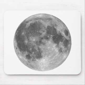 Full moon seen with telescope mouse pad
