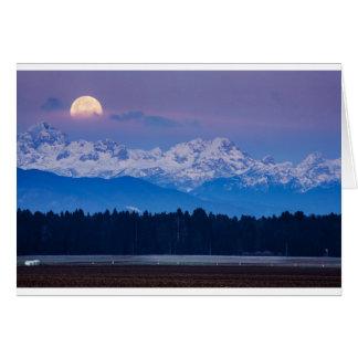 Full Moon setting over the Julian Alps Card