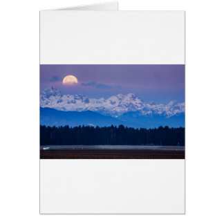 Full Moon setting over the Julian Alps Card