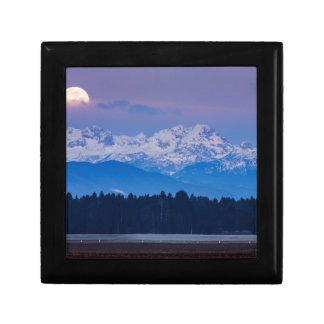 Full Moon setting over the Julian Alps Gift Box