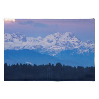 Full Moon setting over the Julian Alps Placemat