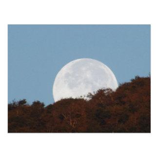 Full Moon Setting Over The Mountain Postcard
