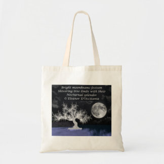Full Moon Splendor Poetry Budget Tote Bag