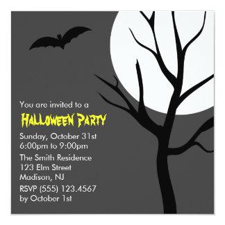 Full Moon Spooky Night Halloween Party Invites