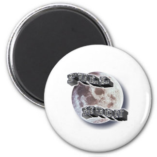 Full Moon Telescope 6 Cm Round Magnet