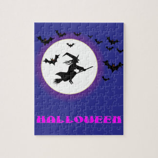 Full Moon Witch Jigsaw Puzzle