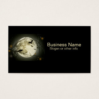 Full Moon with Raven professional Business Card