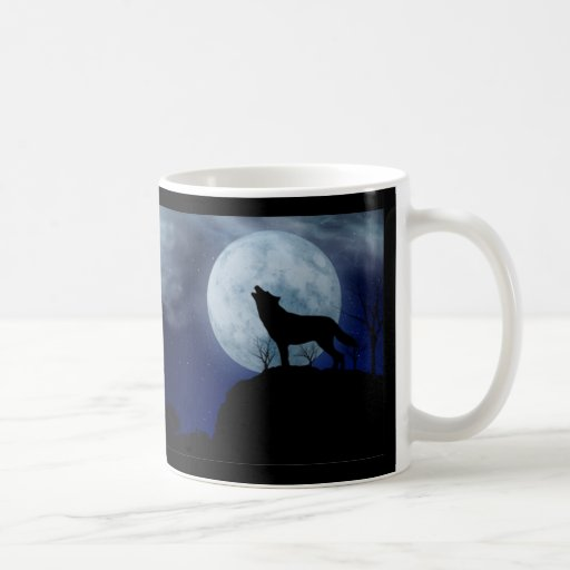 Full Moon Wolf Coffee Mug Zazzle