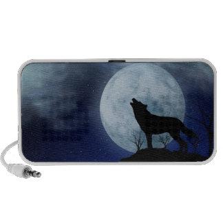 Full Moon Wolf Notebook Speakers