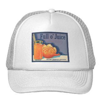 Full O Juice Vintage Crate Label Mesh Hat