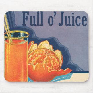Full o' Juice Vintage Orange Growers Advertisement Mouse Mats