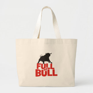Full of Bull Large Tote Bag