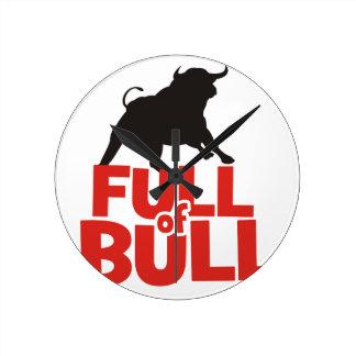 Full of Bull Round Clock