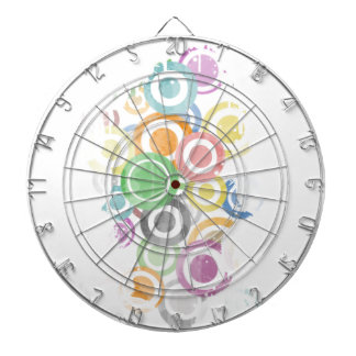 full of circles. Colorful and cool gift Dartboard