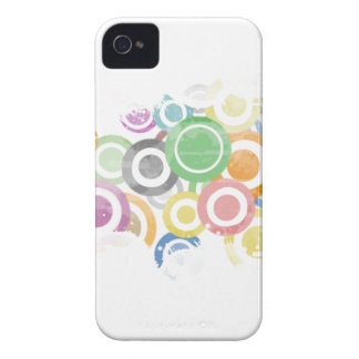 full of circles. Colorful and cool gift iPhone 4 Cases