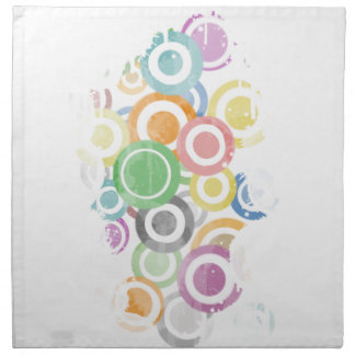 full of circles. Colorful and cool gift Napkin