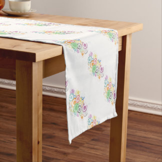 full of circles. Colorful and cool gift Short Table Runner