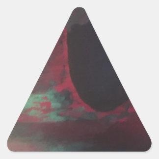 Full of color in a bright world triangle sticker
