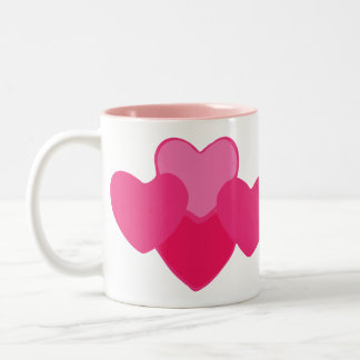 Full of Hearts Two-Tone Mug
