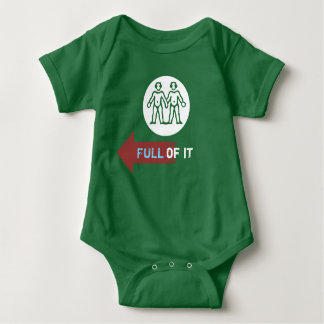 """Full of It"" Twin Baby Bodysuit"