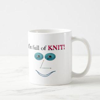 full-of-knit basic white mug