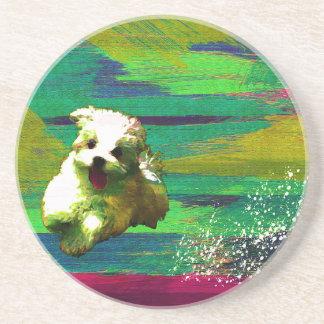 「Full of life」-VividーMaltese Coaster