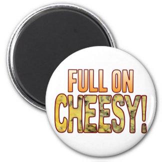 Full On Blue Cheesy 6 Cm Round Magnet