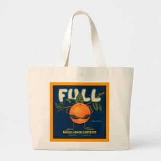 Full - Orange Crate Label Tote Bags