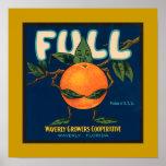 Full - Orange Crate Label (border)