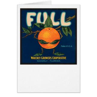 Full - Orange Crate Label Greeting Card