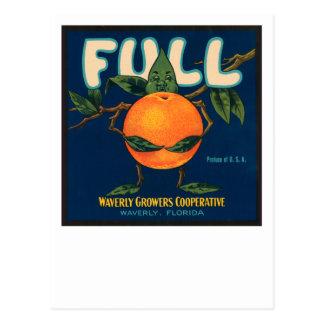 Full - Orange Crate Label Postcard