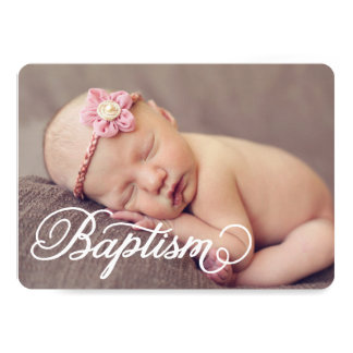 Full Photo Script | Baptism Invitation