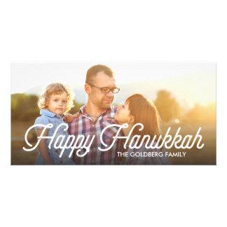 Full Photo Script Happy Hanukkah Photocard Card