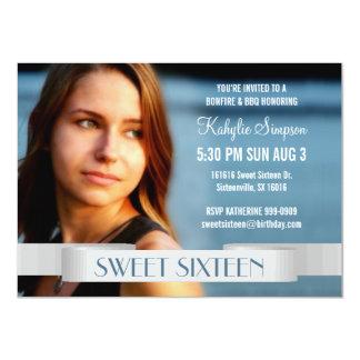 Full Photo Sweet Sixteen Birthday Party 11 Cm X 16 Cm Invitation Card