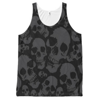 Full Print Dark Skulls Shirt