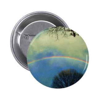 Full rainbow in Seurat style Pinback Button